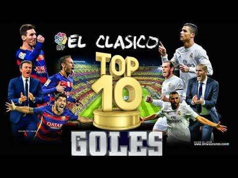 TOP 10 ? MEJORES GOLES EN LA HISTORIA DEL CLÁSICO REAL MADRID VS BARCELONA