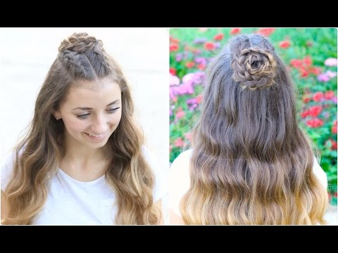 Half-Up Rosette Combo | Homecoming Hairstyles