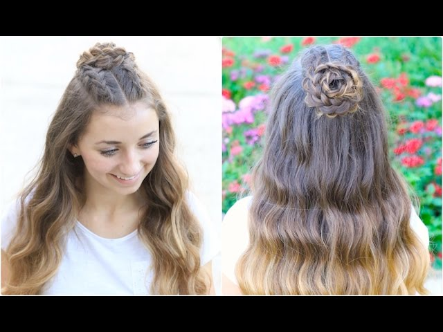 Half Up Rosette Combo Homecoming Hairstyles Youtube