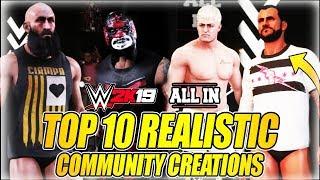 أعلى 10 أفضل واقعية خلق المصارعين في WWE 2K19 المجتمع الإبداعات