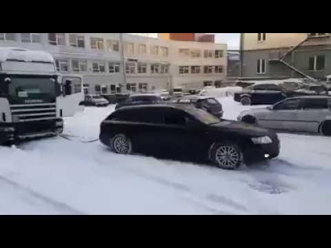Audi Quattro helps truck
