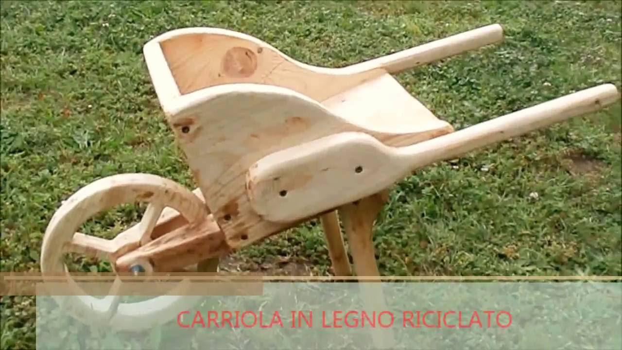come realizzare una carriola fioriera in legno riciclato
