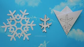 How to make paper snowflakes - Paper Snowflakes #07