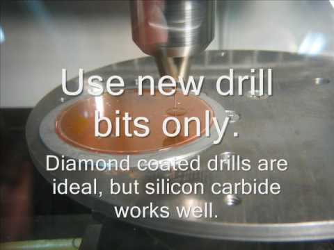 Drilling 500um holes in pyrex wafers