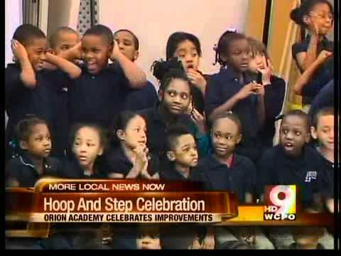 Students at Orion Academy celebrated test scores.