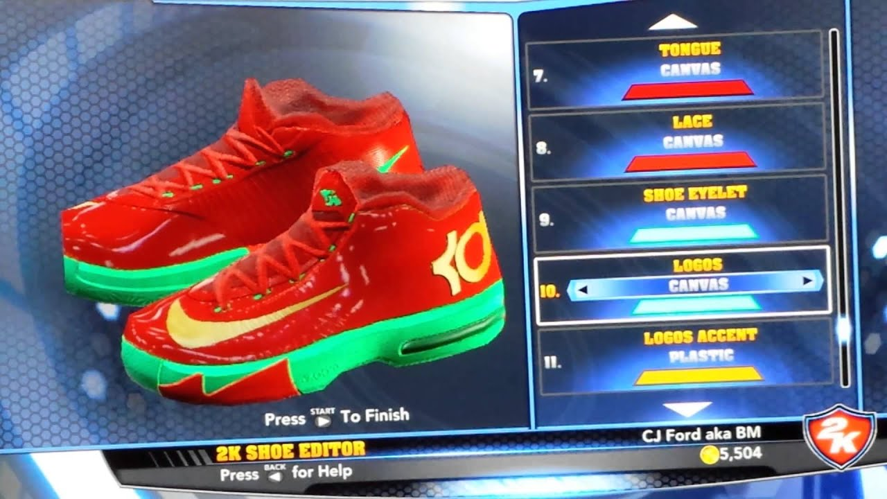 Christmas KD 6 for NBA 2K14 - YouTube