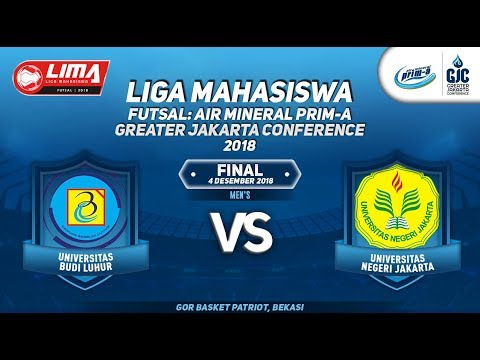 "UBL VS UNJ MEN""S LIMA FUTSAL : AIR PRIM-A GREATER JAKARTA CONFERENCE 2018"