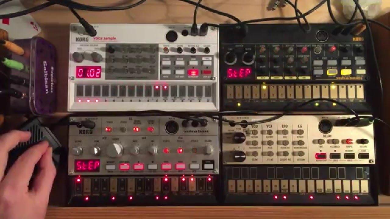 KORG Volca sample, bass, beats, keys: TECHNO #3 #1