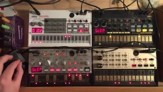 KORG Volca sample, bass, beats, keys: TECHNO #3