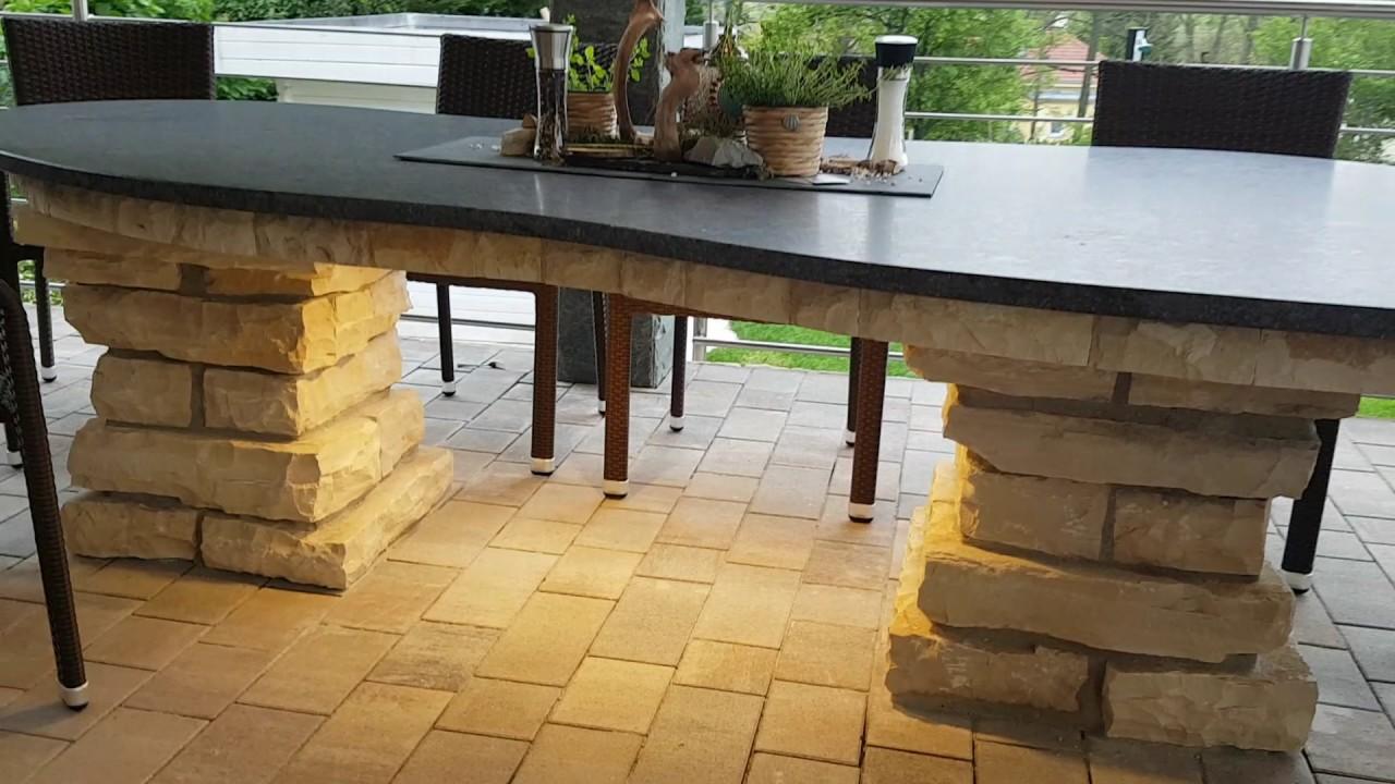 Outdoor Küchen Auersperg : Outdoorküchen at bbq tisch naturstein beleuchtung outdoor garten