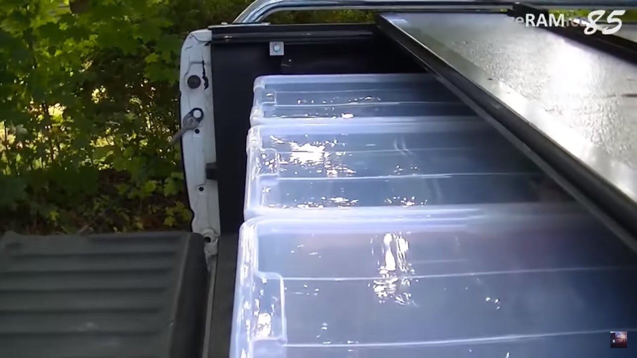 ladeflaeche aufraeumenpraktisch einrichten pickup auto anhaenger kofferraum dodge ram youtube