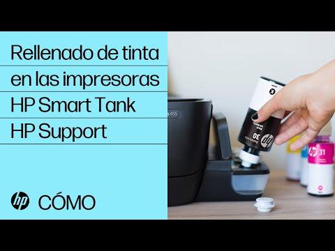 Rellenado de tinta en las impresoras HP Smart Tank
