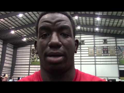 John Curtis offensive lineman Willie Allen discusses his recruitment   Video