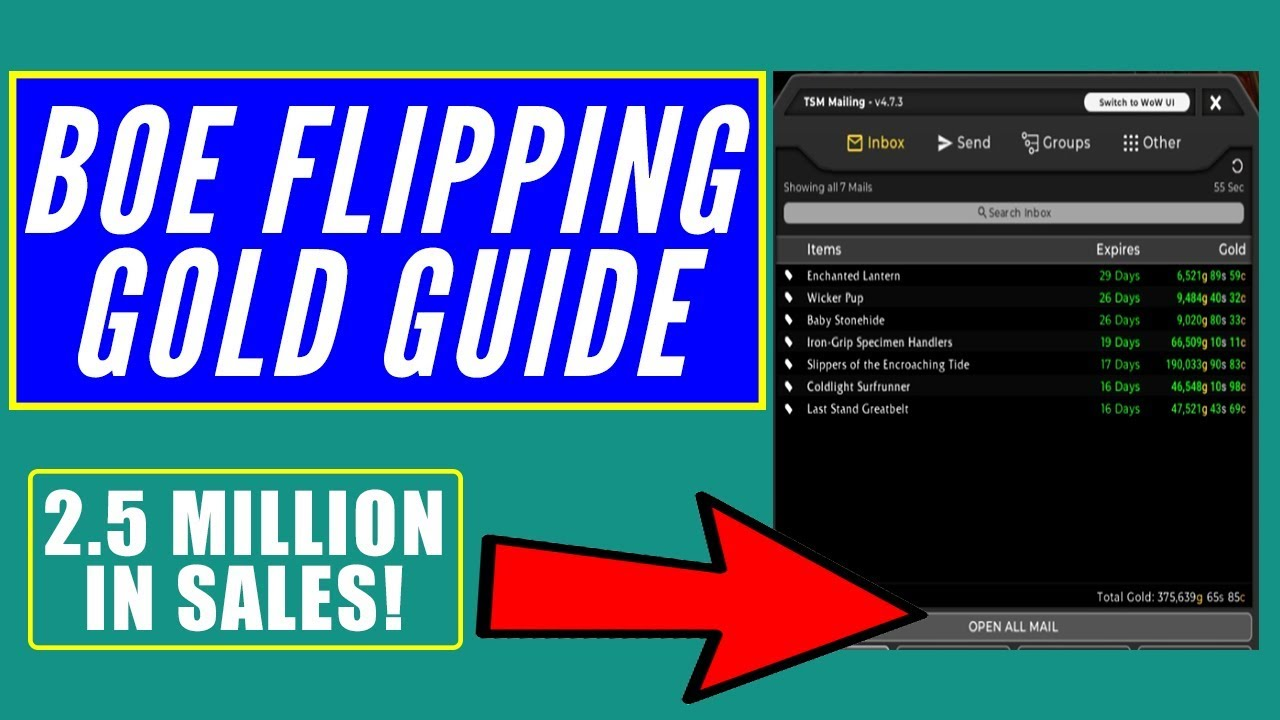 BoE Flipping Gold Guide | How I Made 2 5 Million in Sales