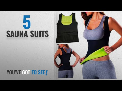 Top 10 Sauna Suits [2018]: Women Hot Sweat Body Shaper Tank Thermo Yoga Sauna Neoprene Vest Fat