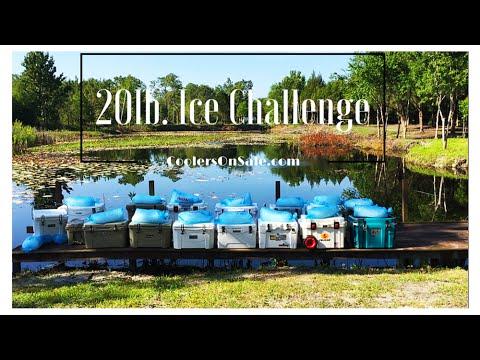 20lbs of Ice Regardless of Cooler Size, Yeti, Engel, Pelican, K2, Igloo, Orion, Black Rock, & More