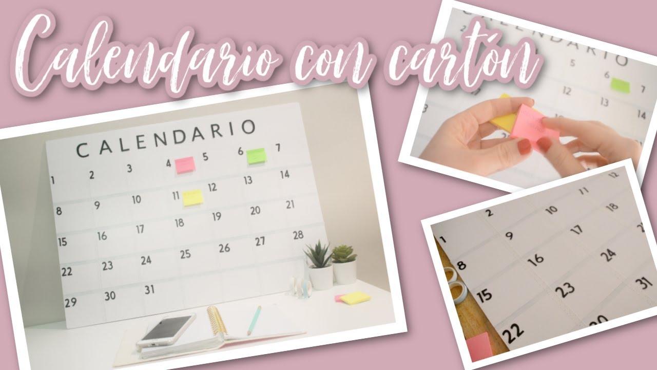 DIY Calendario con Cartón Pluma
