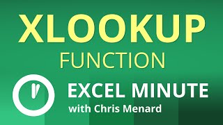 XLOOKUP Function    Excel One Minute Quick Reference