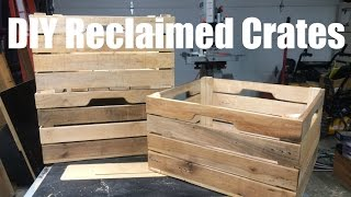 Custom DIY Stacking Wood Crates
