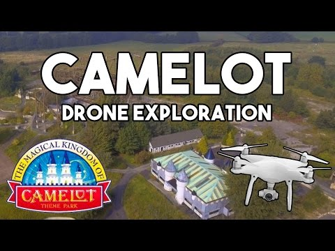 ABANDONED Camelot Theme Park!! - Drone Exploration + HISTORY