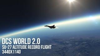 DCS World 2.0: Su-27 Altitude record flight. 3440x1440