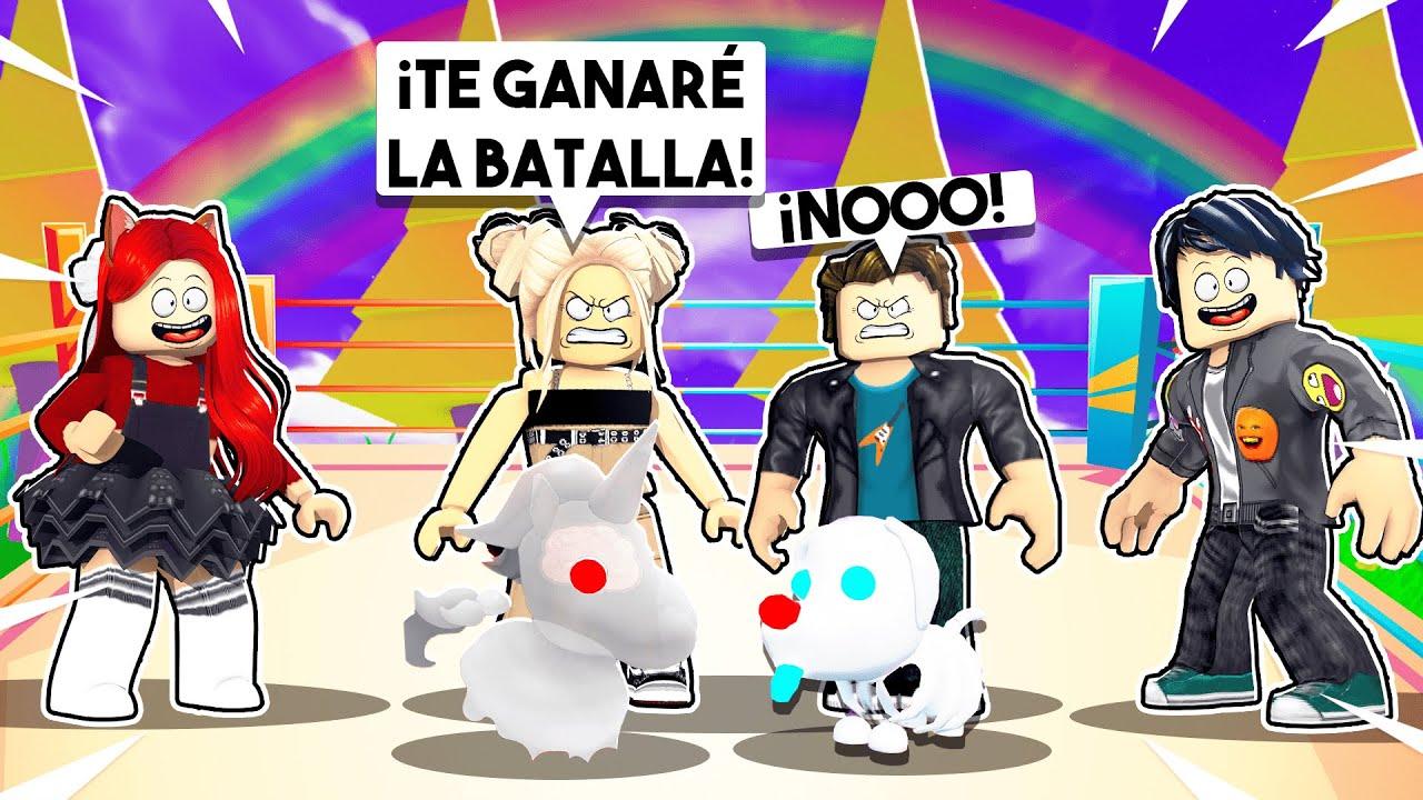 Download RETO A MIS FANS a *UNA BATALLA DE MASCOTAS EXCLUSIVAS* con LEGENDARIAS en ADOPT ME de ROBLOX 😯