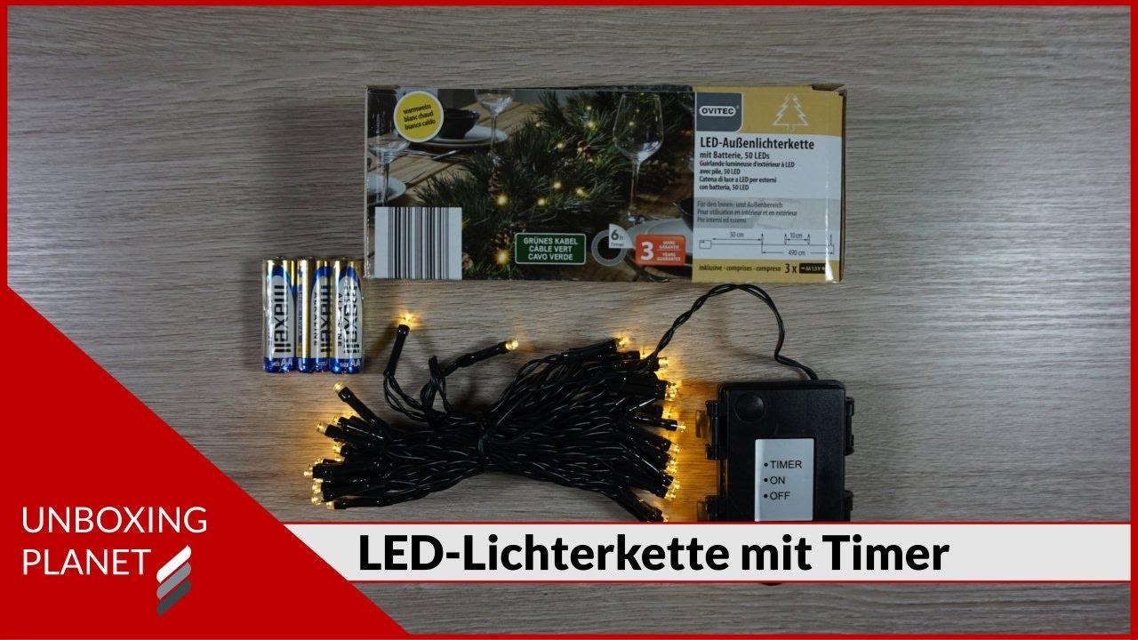 Weihnachtsbeleuchtung Mit Timer.Led Aussenlichterkette Mit Timer Unboxing Video