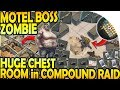 MOTEL BOSS ZOMBIE - HUGE CHEST ROOM in COMPOUND RAID - Last Day on Earth Survival Update 1.9.8
