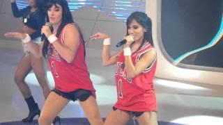 Anitta e Rodrigo Faro dançando 'Show das Poderosas'