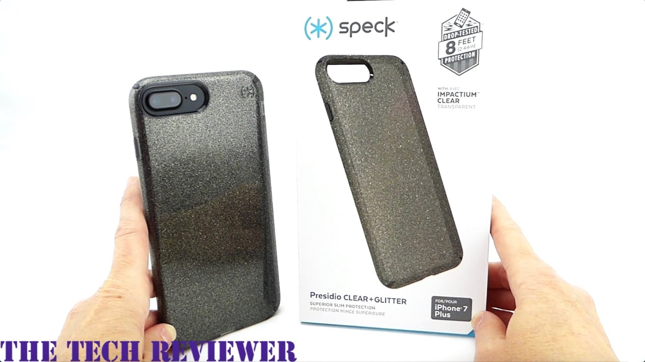 on sale bf7a5 e805b Speck Presidio Clear + Glitter for iPhone 7 Plus: A Glitter Case with 8 Ft  Drop Protection!