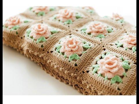 Crochet 3d Flower Baby Blanket Free Pattern : Crochet Patterns for free Crochet Baby Blanket 575 ...
