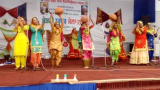 Kings College Barnala  fabulous Giddha team in youth fest  2016