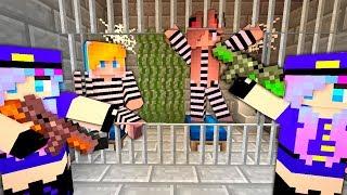 Преступник ограбил тюрьму в Майнкрафт! Копы и преступники - побег из тюрьмы. Нуб minecraft троллинг