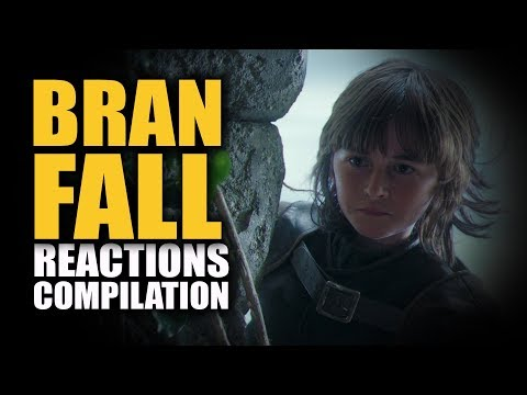 Game Of Thrones BRAN FALL Reactions Compilation