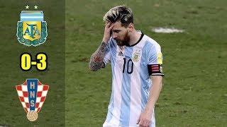 Argentina Vs Croacia 0-3 ● Relató (Mariano Closs) | Resumen y Goles | 21/06/18 HD