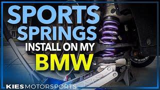 F30 BMW 328i H&R Sport Springs Install XDrive
