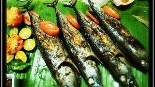 Grilled Tulingan Fish( Kamayan sa Inihaw na Isda)