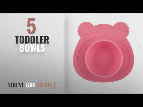 Best Toddler Bowls [2018]: URSMART One-piece Baby Placemat Bowl-Highchair Feeding Tray Round Suction