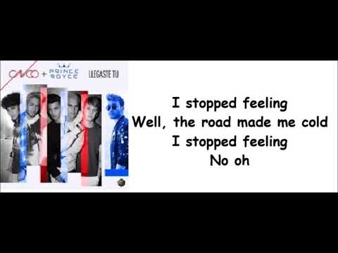 CNCO & Prince Royce -  Llegaste tu letra english