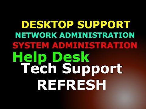 Desktop Support and Network Administration Training Medley Various Problems and Solutions