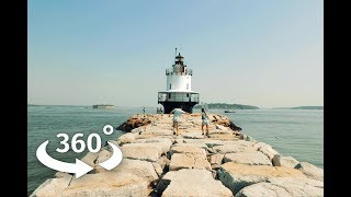 A 360 lighthouse view of Portland, Maine