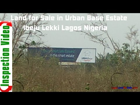 Land For Sale in Urban Base Estate Bogije Ibeju Lekki Lagos Nigeria