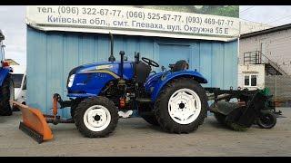 Купить Трактор коммунальный Dongfeng-244 (Донгфенг-244) с отвалом и щеткой minitrak.com.ua