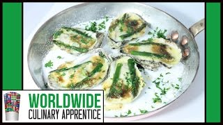 Simple and Sexy Oyster recipe - Baked Oyster - Huitre Gratinée