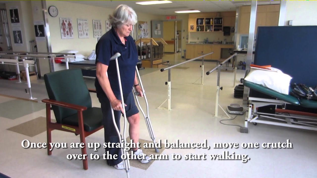 How To Use Crutches Partial Weightbearing Youtube