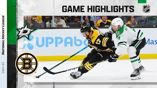 Stars @ Bruins 10/16/21 | NHL Highlights