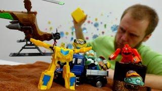 Город Трансформеров и Миньонов. Видео с машинками для мальчиков.
