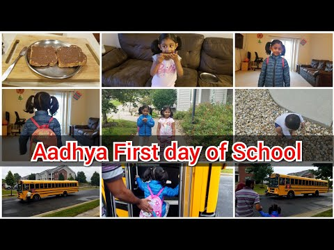 Aadhya First day of School | Pre- Kindergarten| Telugu Vlogs in USA