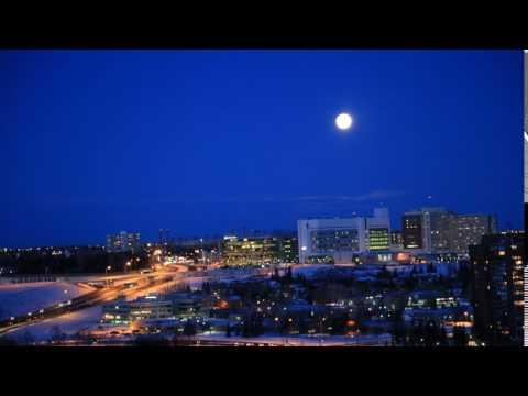 Moon Rise -Calgary -Time lapse