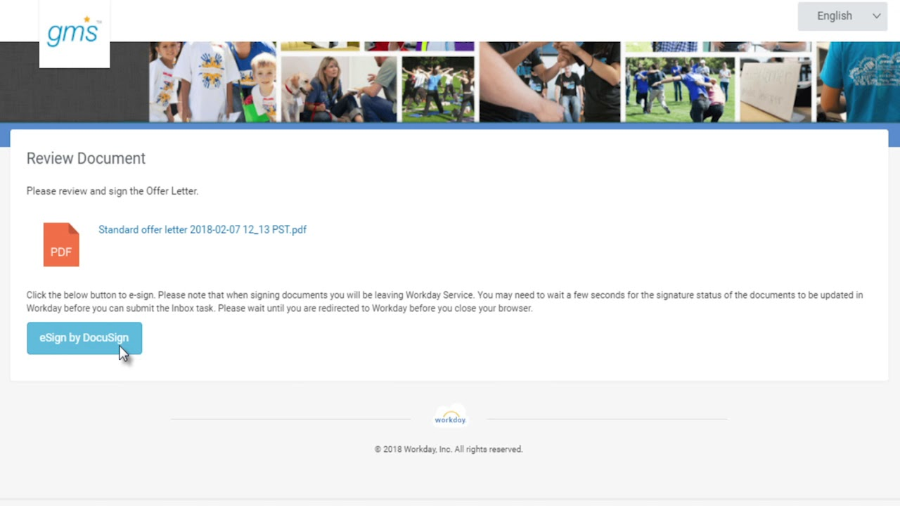 DocuSign for Workday Solution: Candidate Offer Letter